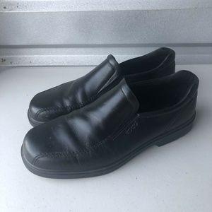 Ecco Helsinki Loafers Black Bicycle Toe Size 46C